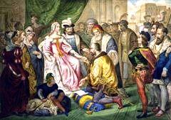Colón frente a los reyes